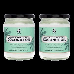 Anvi Earth Organic Extra Virgin Coconut Oil - Pack of 2 (500 ml x 2)